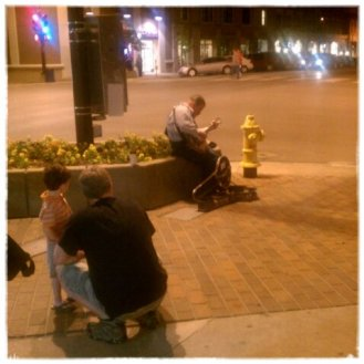 Downtown Lawrence street performer- love the atmosphere!