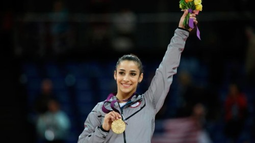 Aly Raisman winning gold in the individual floor exercise!