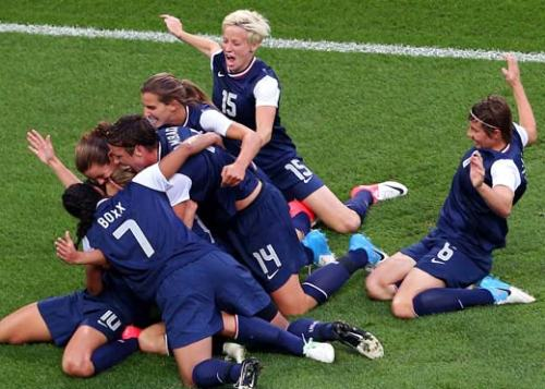 USA winning gold in Women's soccer!!