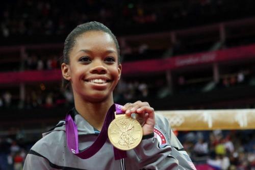 Gabby Douglas wins the women's gymnastics All-Around!!