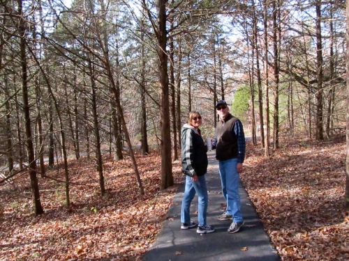 We stopped at the Runge Conservation Nature Center in Jefferson City, MO for a 30 minute walk