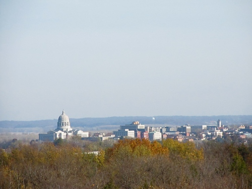 We climbed the old fire watch tower- and could see Missouri's state capitol!
