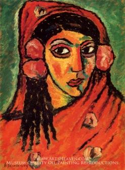 ORIGINAL: 'Spaniard with a Red Scarf' - Alexej von Jawlensky, circa 1912