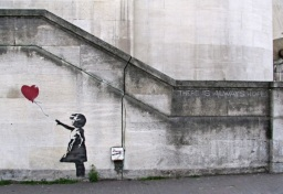 ORIGINAL: 'The Girl with the Red Balloon' - Banksy, 2002
