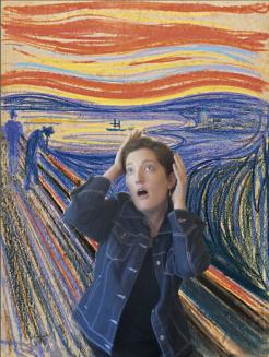 RECREATION: 'The Scream' - Edvard Munch, 1895