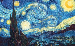 ORIGINAL: 'The Starry Night' - Vinvent van Gogh, 1889