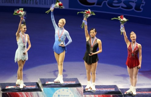 The Women's Figure Skating Team- Polina Edmunds, Gracie Gold, Mirai Nagasu, and Ashley Wagner