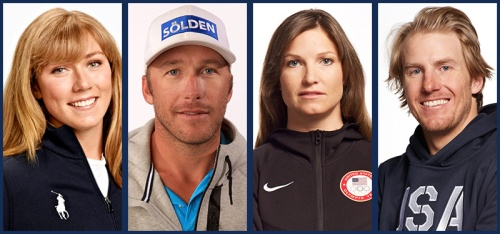 USA Alpine Ski Team, 20 members highlighted by Bode Miller, Ted Ligety, Julia Mancuso, and Mikaela Shiffrin.