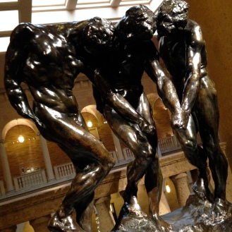 'The Three Shades', 1880-1904 cast 10, 1981 for 'The Gates of Hell' Auguste Rodin