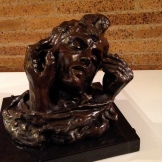 'Head of Shade with Two Hands' ca. 1910, cast 2 date unknown Auguste Rodin