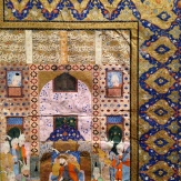 King Luhrasp Enthroned, a Bifolio from a Shahnama Manuscript, ca. 1560-1580 Probably Shiraz, Iran, Safavid Dynasty (1501-1722)