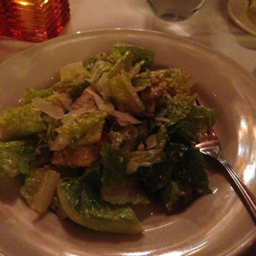 Cesare Lidia's Signature Caesar Salad with Shaved Grana and Foccacia Croutons 8