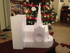 No flying buttresses shown- I only needed one for the pattern!